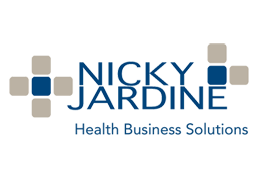 medical practice setup, management, consulting and marketing - nicky jardine - logo footer